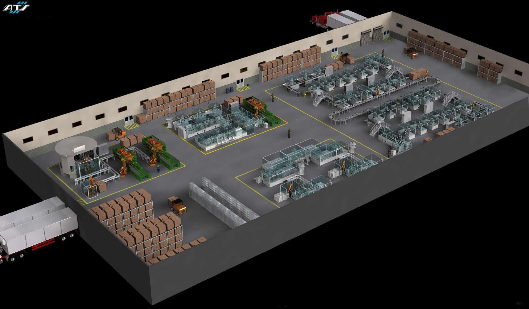 3D Manufacturing Plant Layout