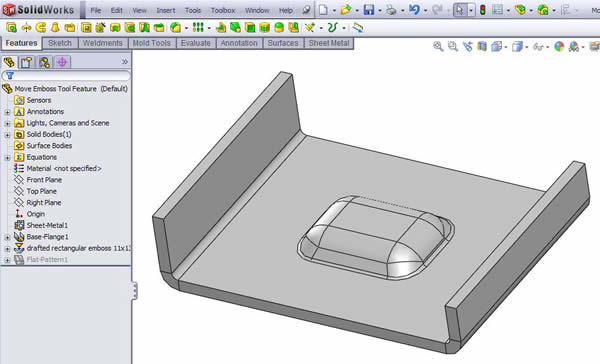 Modifying the depth of an Emboss Tool Feature without changing the ...
