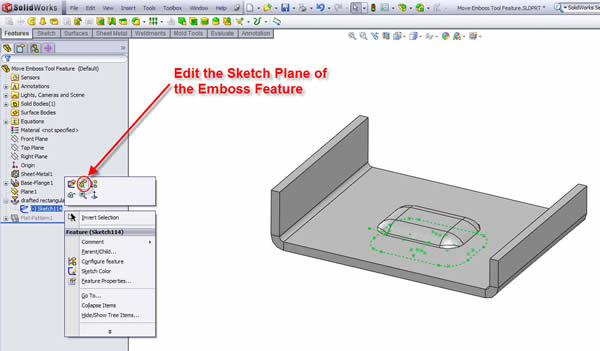 how to change sketch plane in solidworks