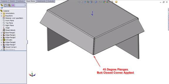 Sheet Metal Closed Corner Options Exposed