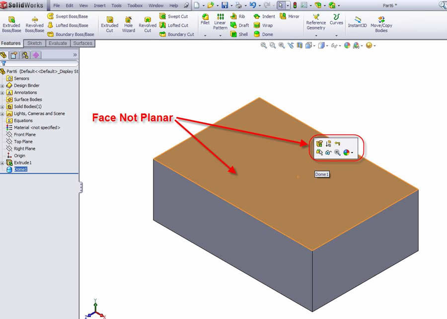 how to change settings on solidworks part template
