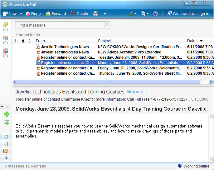Utilizing RSS to get the latest SolidWorks News