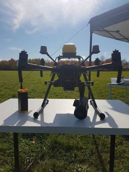 AVSS drone with parachute pod