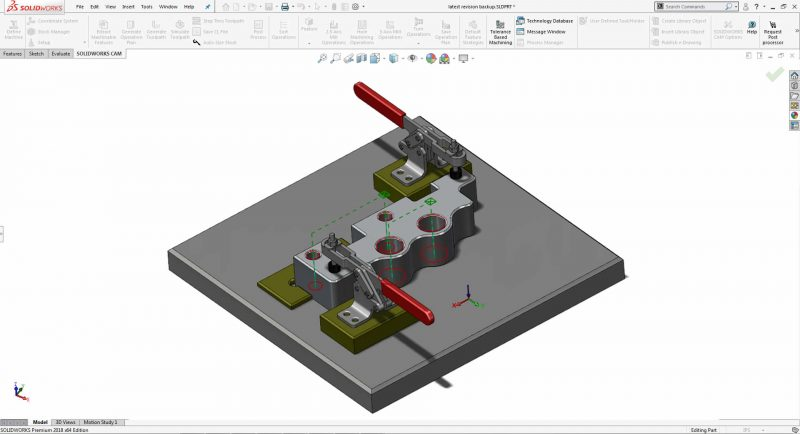 SOLIDWORKS CAM Professional 3+2 Milling
