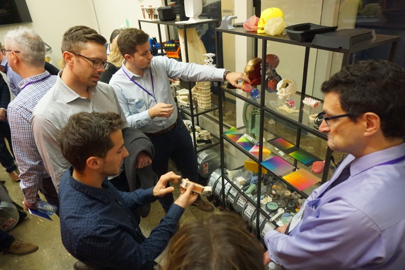 Attendees in Javelin Technologies 3D Printing Lab.