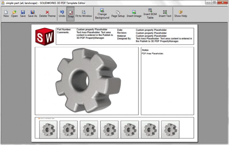 3D PDF Custom Template