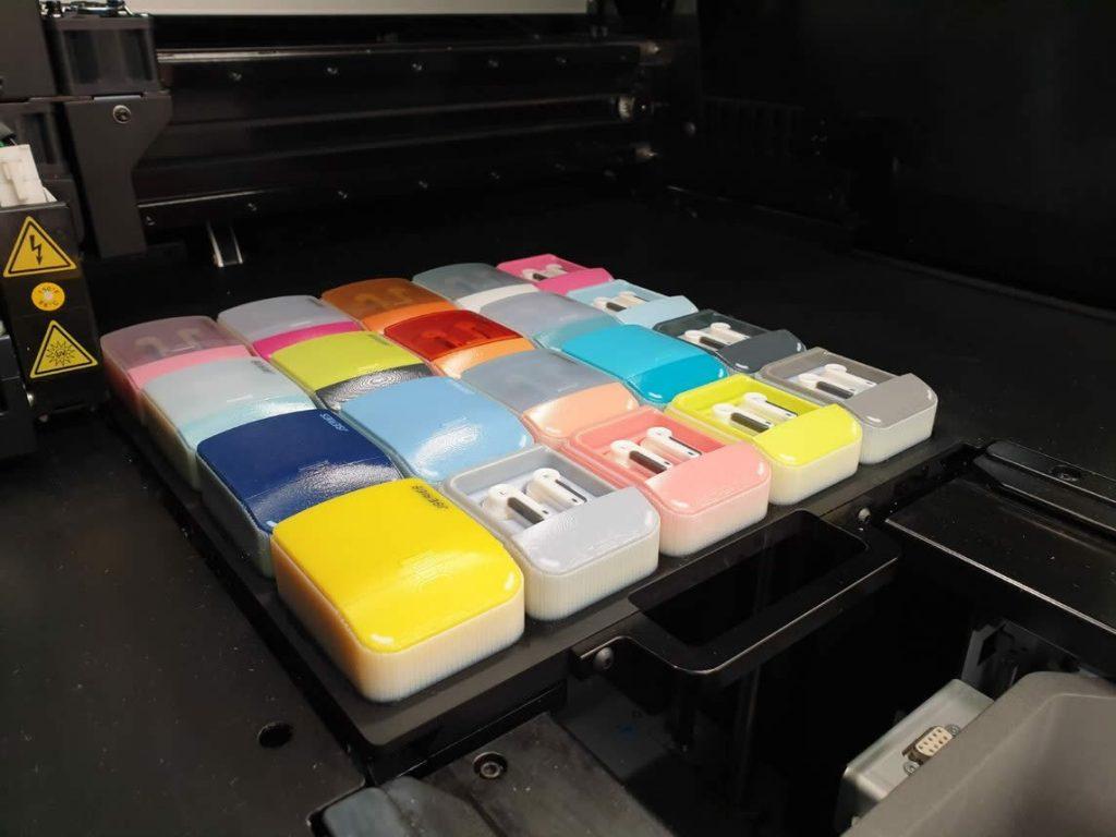 3D printed colour parts
