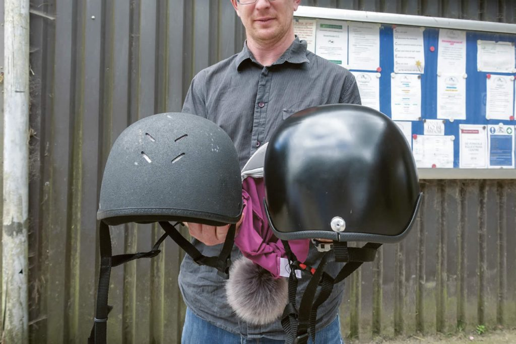 3D printed riding helmets