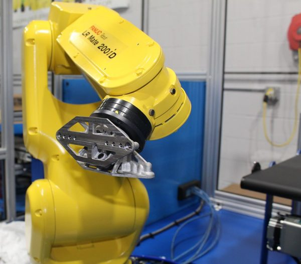 ExOne Binder jet end-of-arm tooling part