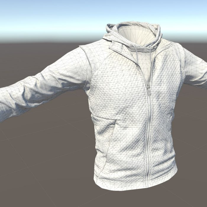 3D scan of player clothing for video game using Artec Space Spider