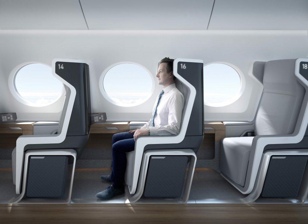 Boom SuperSonic aircraft Interior