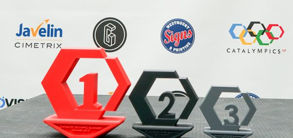 Custom 3D-printed trophies for Catalympics event