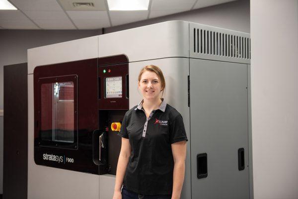 Stratasys F900 manufacturing 3D printer at ICAMP