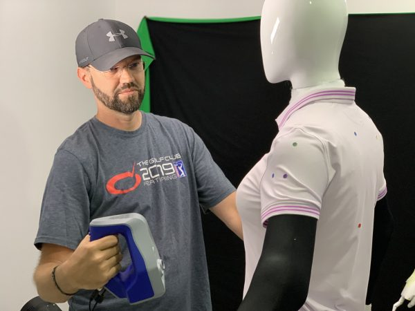 HB Studios using the Space Spider to scan clothing