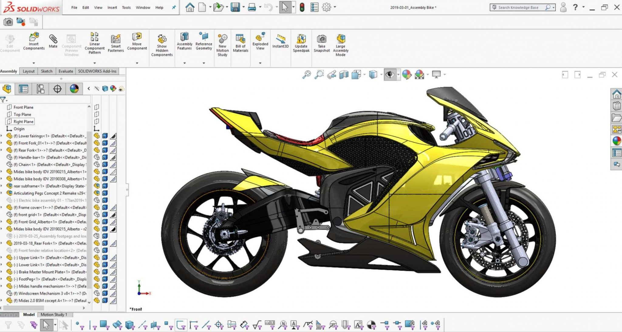 Damon Motorcycles - Halo Bike in SOLIDWORKS