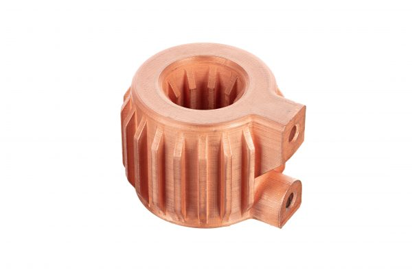 helical heat exchanger printed in copper