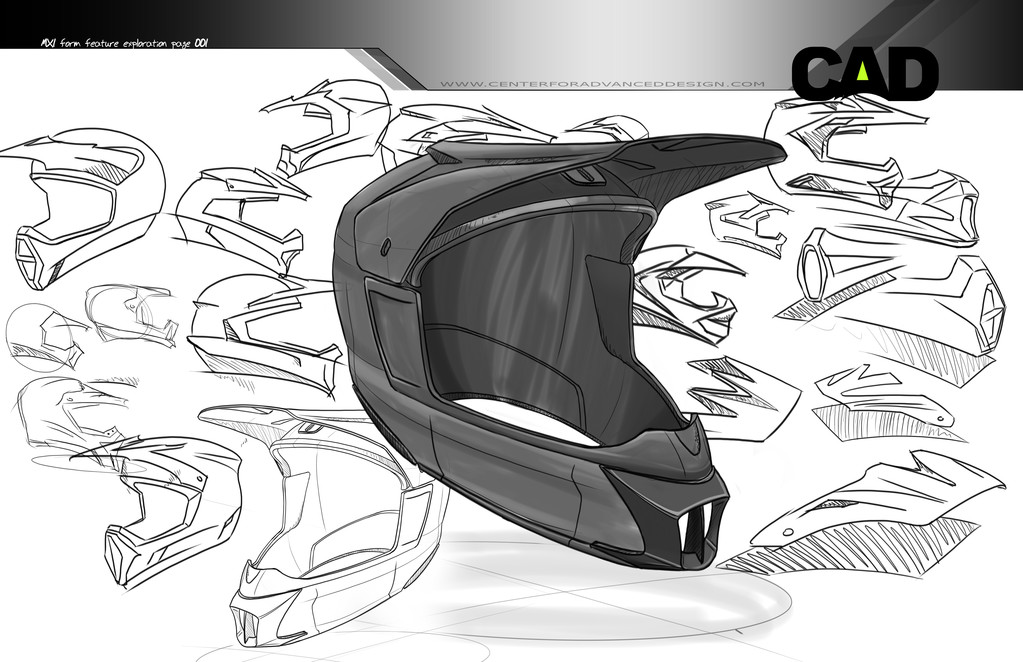 Helmet Design Sketches