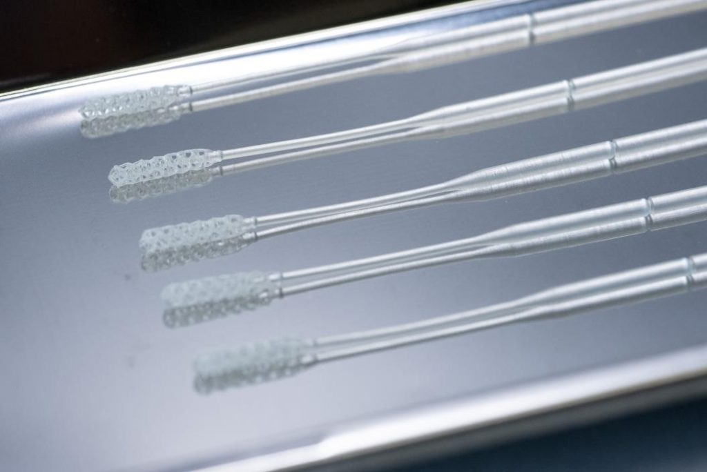 Origin One 3D printed nasopharyngeal swab