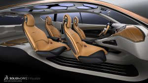 SOLIDWORKS Visualize Example Car Interior