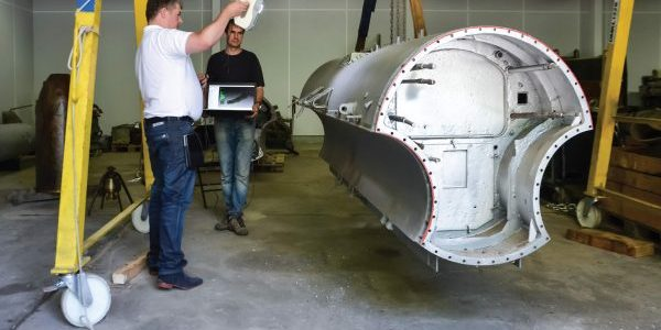 3D scanning submarine
