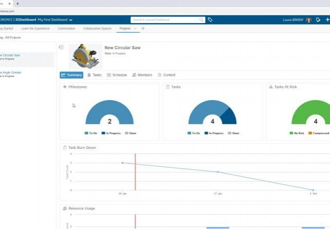 3DEXPERIENCE WORKS Project Management