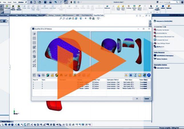 ExactFlat 2D Pattern for Soft Goods Design