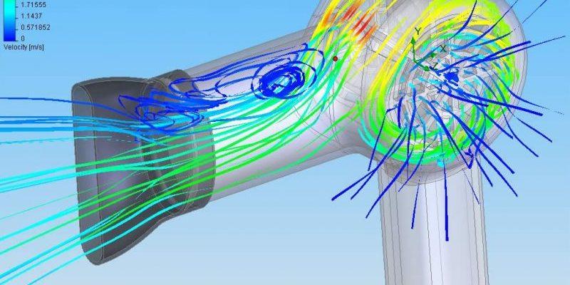 Flow Simulation Hair Dryer