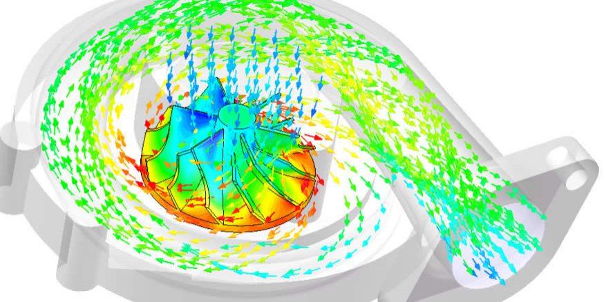 Flow Simulation Supercharger