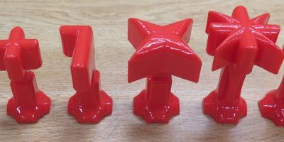 chess pieces 3D printed in classroom