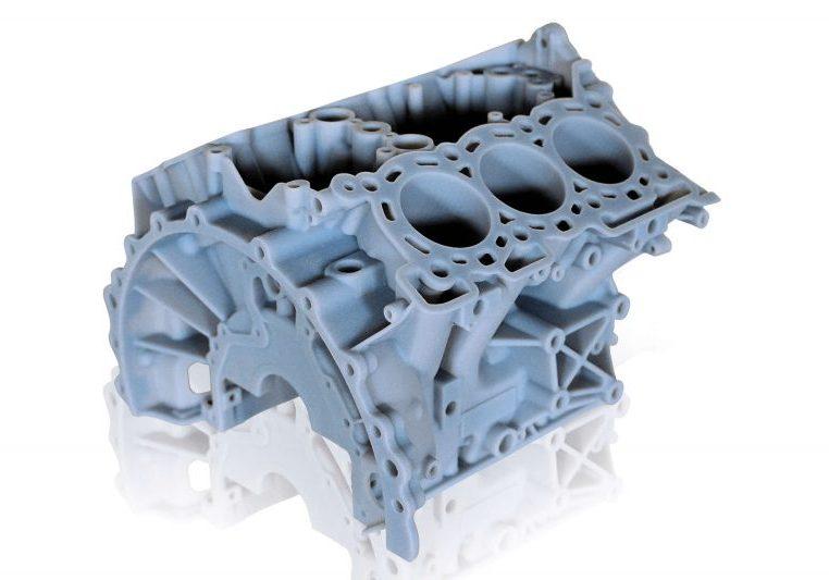Stratasys Rigid Opaque engine block in Vero Material