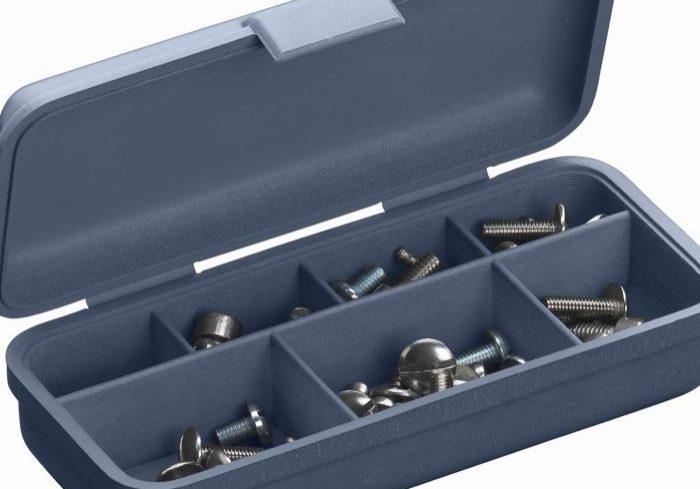 Simulated polypropylene box screws