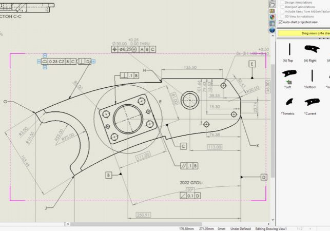 SOLIDWORKS 2022 Drawings