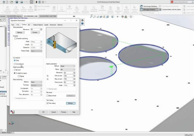 SOLIDWORKS CAM 2020 Tab Cutting