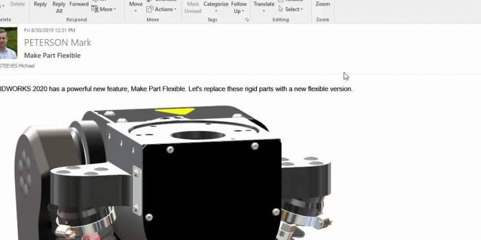 SOLIDWORKS Manage 2020 Outlook and PDM Integration