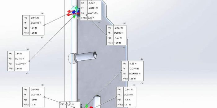SOLIDWORKS Simulation 2020 Free Body Force