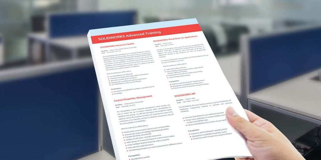 SOLIDWORKS Training Pricing Catalogue
