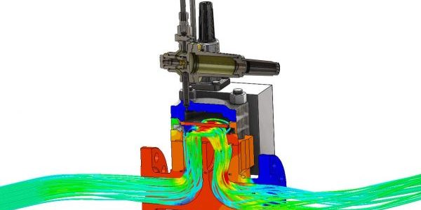 Valve flow simulation