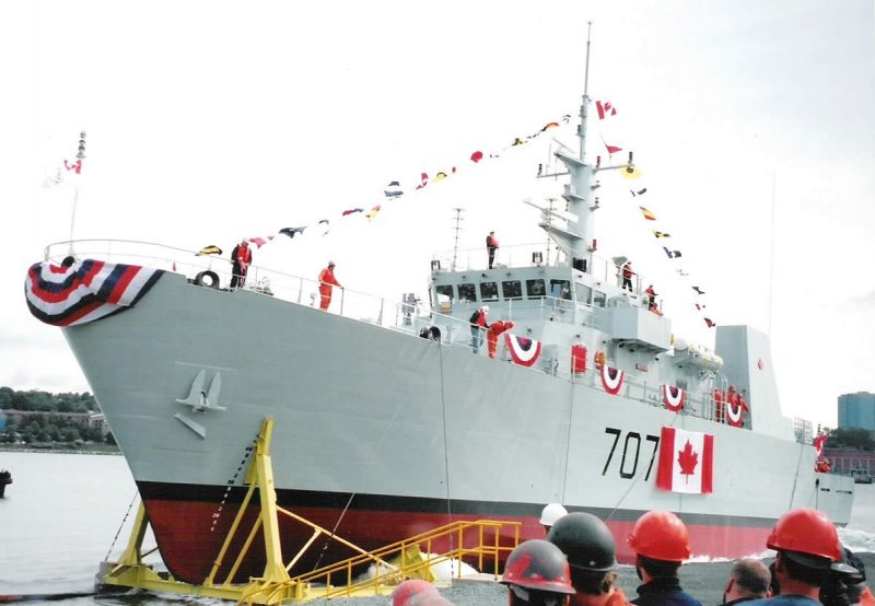 Canadian Navy Maritime Coastal Defense Vessel