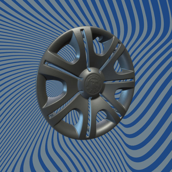 Car Hubcap 3D Scan Model