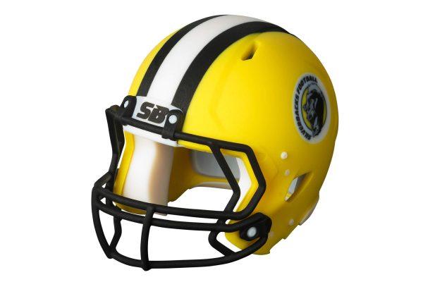 Digital material football helmet