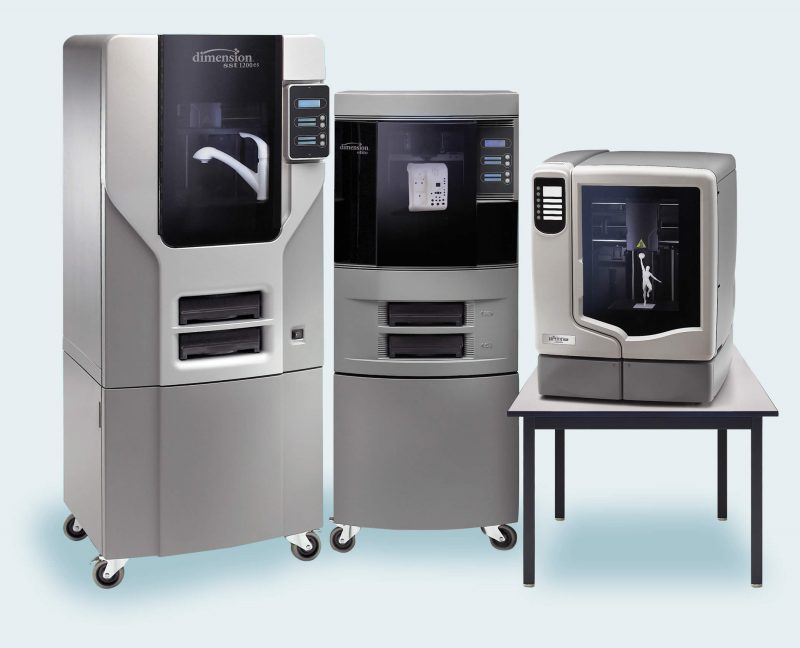 Dimension family of 3D printers