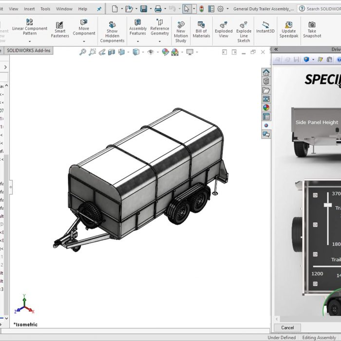 DriveWorks Solo Custom Configurator Form