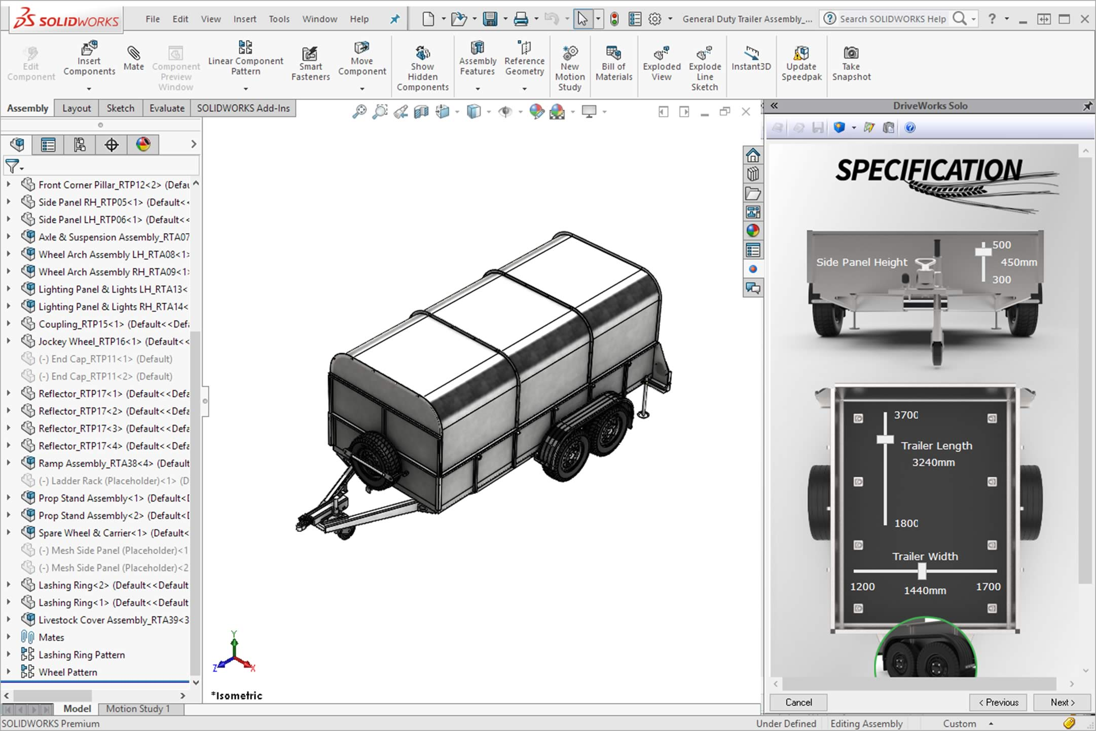 DriveWorks SOLIDWORKS Add-in for Automation & Sales Configuration