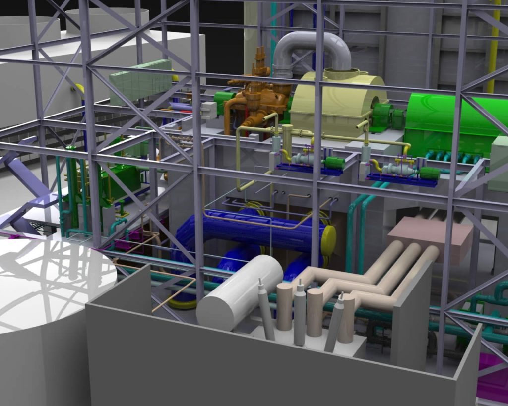 Eastern Power Ontario Plant Design With Solidworks Software Piping Layout Tools Pipe Routes