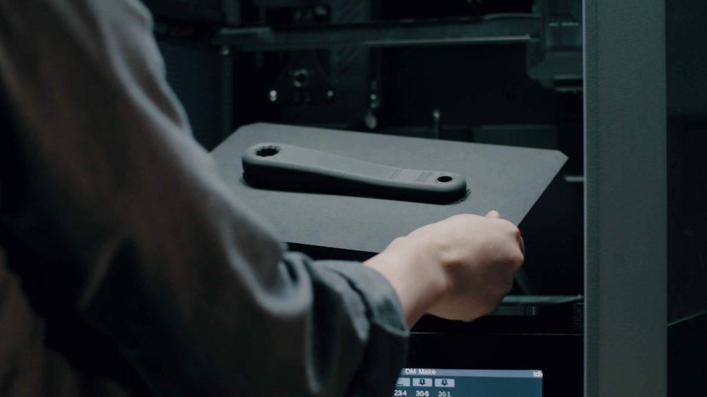 Fiber printed part