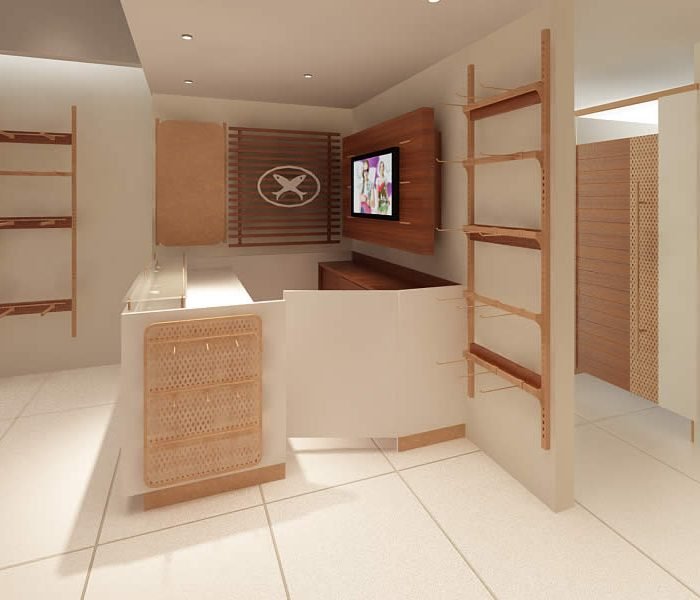 SOLIDWORKS Custom Furniture Design Store Layout Rendering