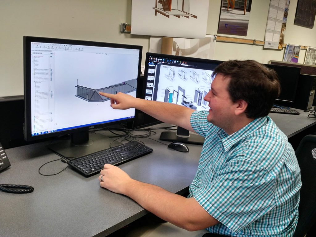 Grant Mattis with a SOLIDWORKS Large Assembly