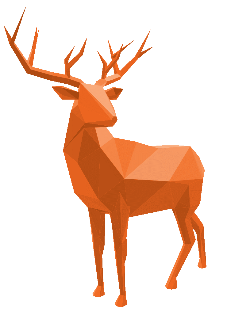 Holiday card stag