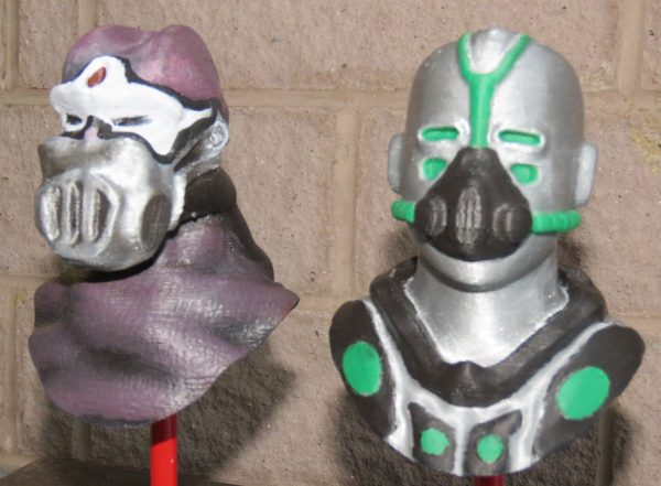 3D printed masks designed and printed by high school students