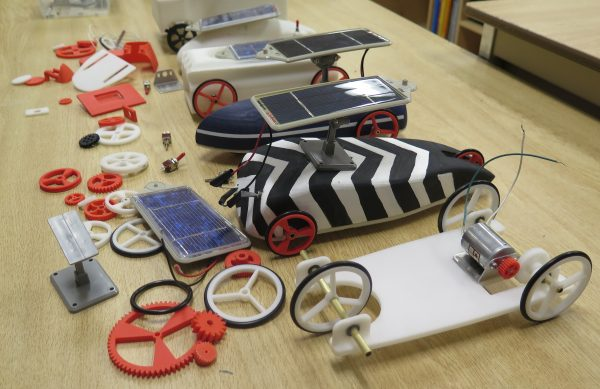 3D printed parts for a solar car project